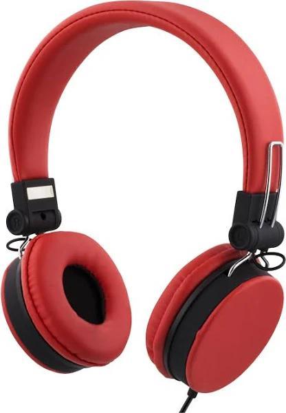 STREETZ headset för iPhone, mikrofon, 1,5m, röd