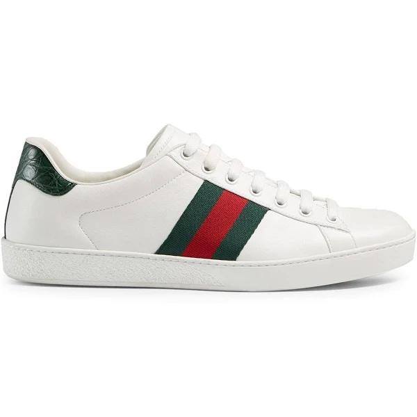 Gucci - Ace leather sneakers - men - Rubber/Nylon/Leather - 4,5 - White