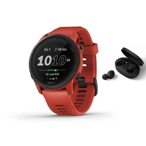 Garmin Forerunner 745 kör-/triathlonur – inkl. Bluetooth-headset – röd/magmarot
