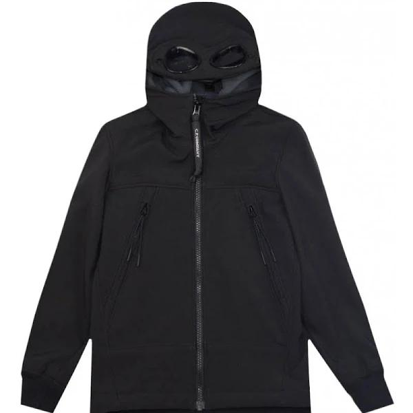 C.p. Company Lens Hooded Jacket Colour: BLACK, Size: 6 YEARS