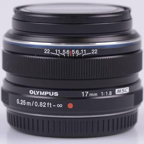 Olympus M.ZUIKO Digital 17mm f/1.8 Lens Black