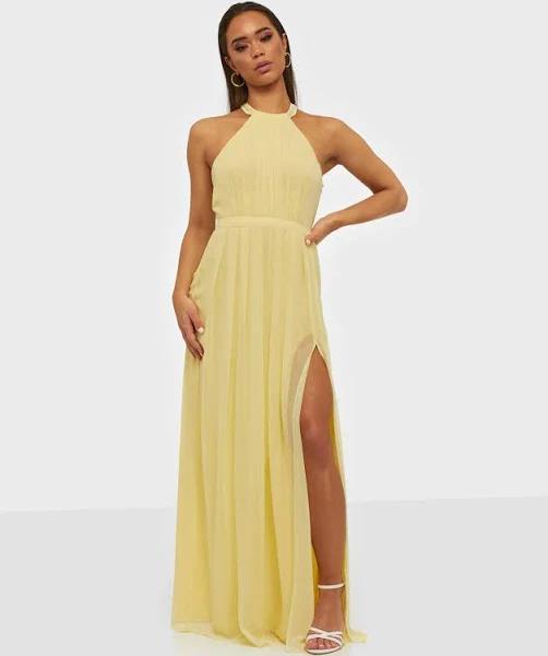 NLY Eve - Maxiklänningar - Ljus Gul - Halterneck Beaded Gown - Festklänningar - Maxi Dresses