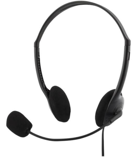 Deltaco Stereo Headset, 30mm Element, 32 Ohm, 3,5mm Minitele, Ca