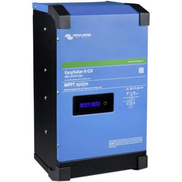 Victron Energy;Växelriktare;EasySolar ll 250/70 GX;3000 W- 230 V/AC;integrerad laddningsreglering, Fjärrstyrd