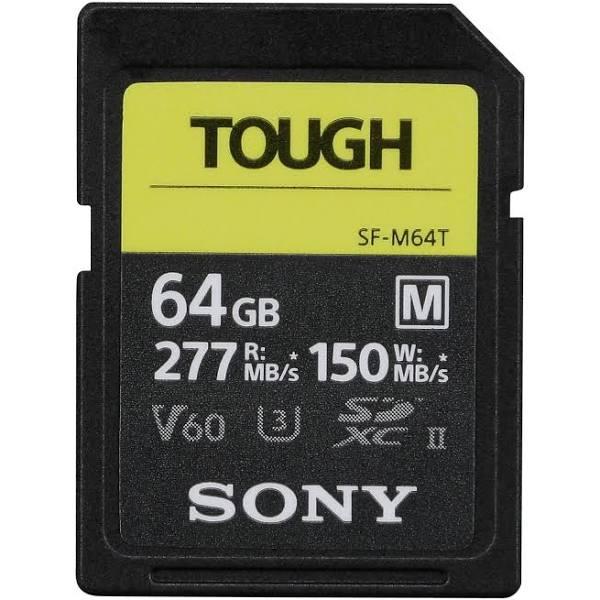 Sony SDXC M-Series Tough 64GB UHS-II U3 V60, 277MB/s