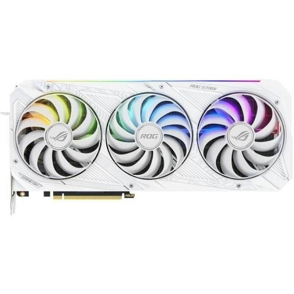 Asus Rog-Strix-RTX3070-8G-White - Grafikkort - Gf Rtx 3070 - 8 Gb GDDR6 - PCIe 4.0 - 2 x Hdmi, 3 x DisplayPort - vit
