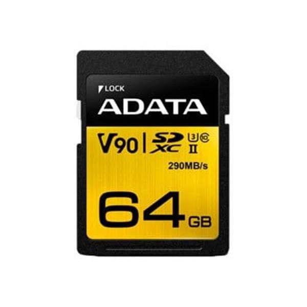 ADATA SDXC Card 64GB, Premier ONE UHS-II