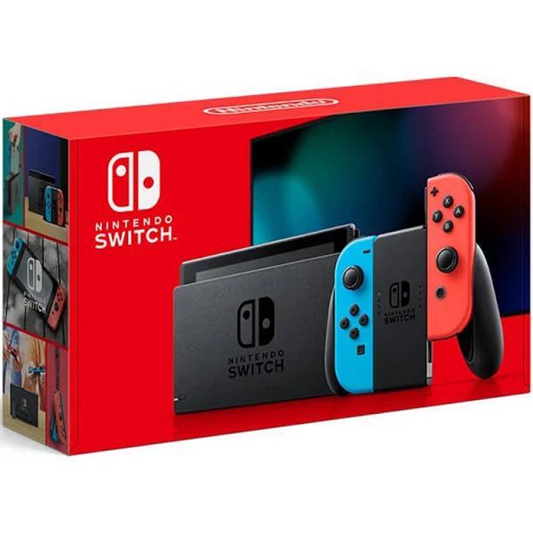 Nintendo - Switch 32Gb Console - Neon Red/Neon Blue Joy-Con - HADSKABAA