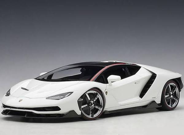 AUTOart Lamborghini Centenario LP770-4 sammansatt modell bil Vit 24cm long