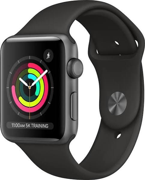 Apple Watch Series 3 (GPS) 38 mm Space grey/Svart