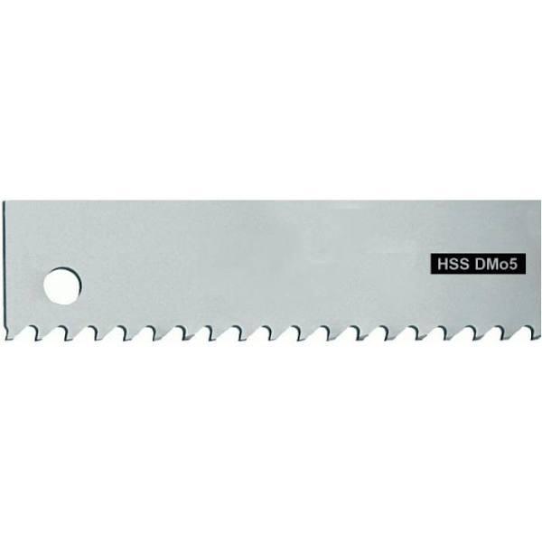 Maskinsågblad, FORUM - HSS (DMo5) - längd x bredd x tjocklek 650 x 50 x 2,5 mm - 4 tänder per tum - spånvinkel 0° - spännhål 13 mm