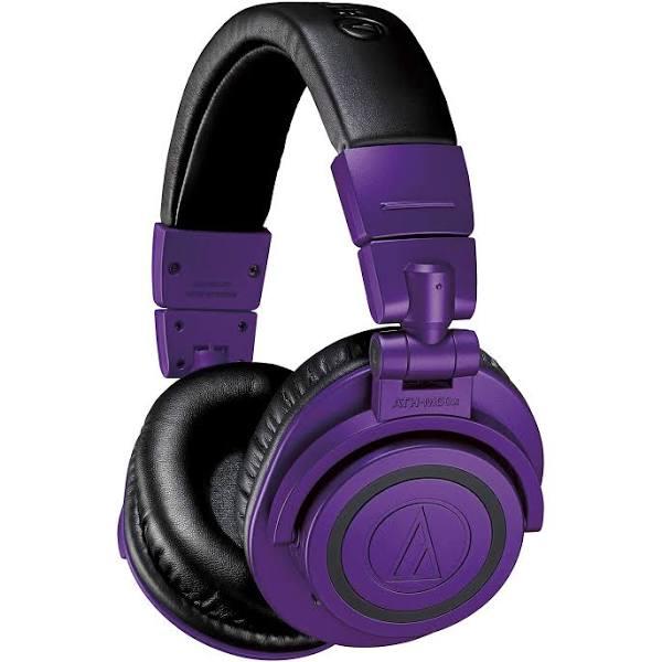 Audio-Technica ATH-M50xBTPB studio monitor professionella hörlurar – lila