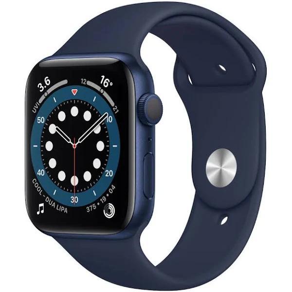Apple Watch Series 6 (GPS, 44 mm, blå/blå) 44mm Blue/Navy Klockor