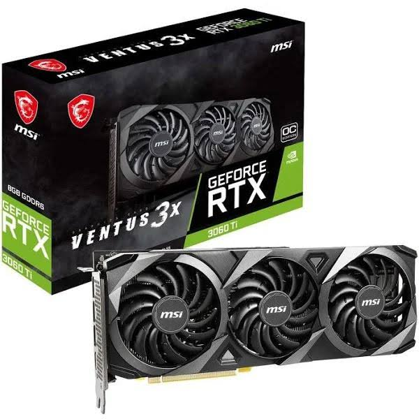 Msi Geforce Rtx 3060 Ti Ventus 3X Oc 8Gb (Non-LHR)