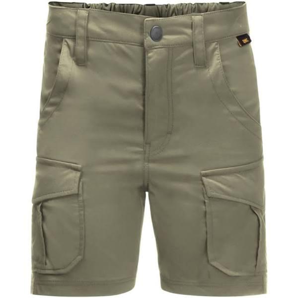 Jack Wolfskin Kids Treasure Hunter Shorts Green, Kids Shorts (Size 140 - Color Khaki)