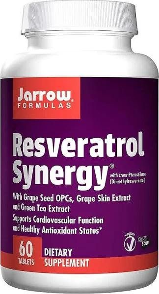 Jarrow Formulas Jarrow Formler, Resveratrol Synergy, 60 Tabletter