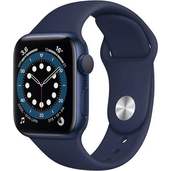 Apple Watch Series 6 GPS 40 mm Aluminum Deep Navy Sport Blå