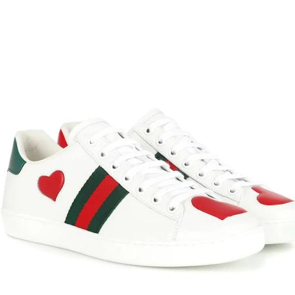Gucci, Ace leather sneakers, Women, White, 38.5, Sneakers