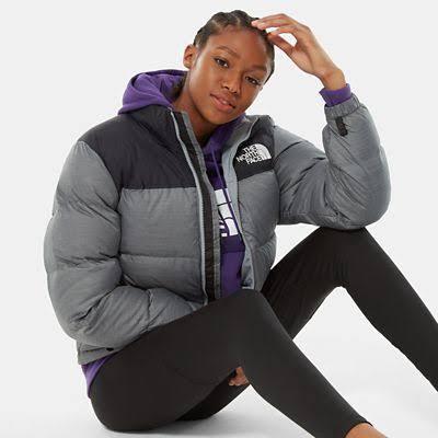 The North Face Women's 1996 Retro Nuptse Jacket Medium Grey Heather - Size: XXL