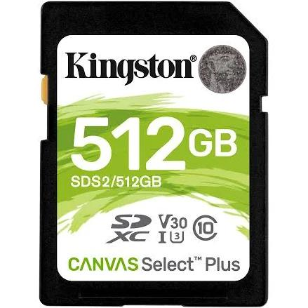 Kingston Technology Canvas Select Plus memory card 512 GB SDXC Class