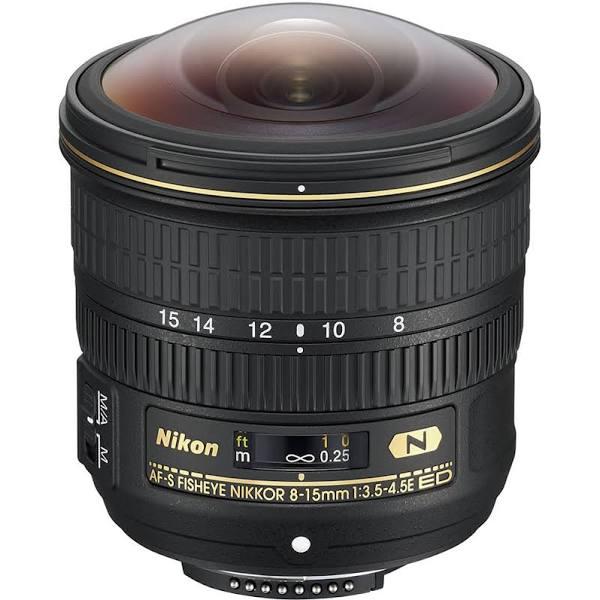 Nikon AF-S Fisheye NIKKOR 8-15mm f/3.5-4.5E ED Lenses