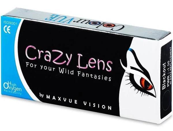 Solar Blue - ColourVUE Crazy Lens (2 linser) - Halloween kontaktlinser