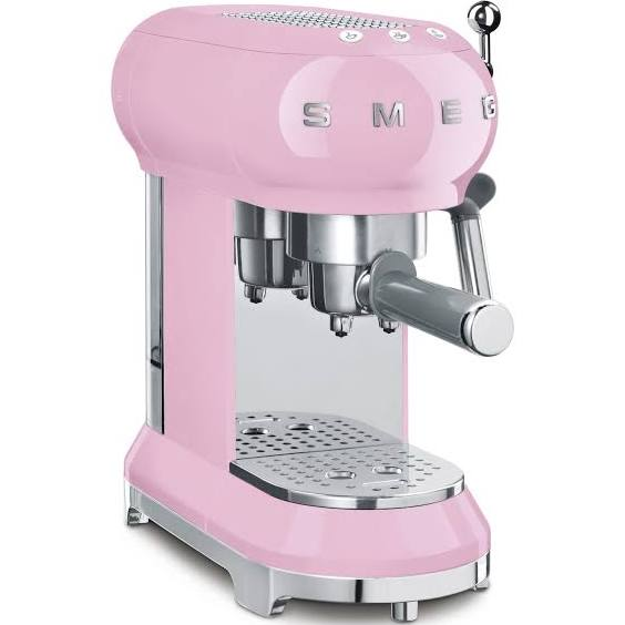 Smeg ECF01PKEU espressomaskin. rosa