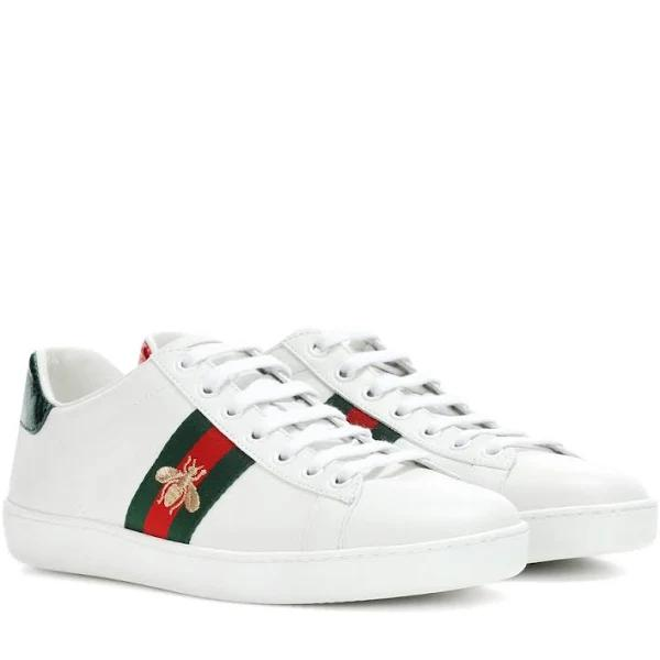 Gucci, Ace leather sneakers, Women, White, 41.5, Sneakers