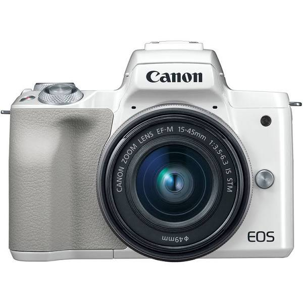 Canon - Eos M50 Mirrorless Camera With Ef-M 15-45Mm F/3.5-6.3 Is Stm Zoom Lens - White