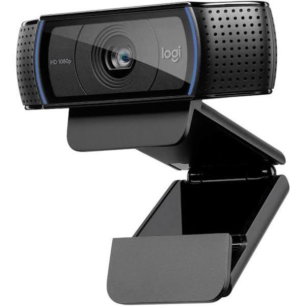 Logitech C920 HD Pro Webbkamera, Full HD 1080p / 30fps Videosamtal, Clear Stereo Audio, HD Light Correction, Fungerar med Skype, Zoom, FaceTime,