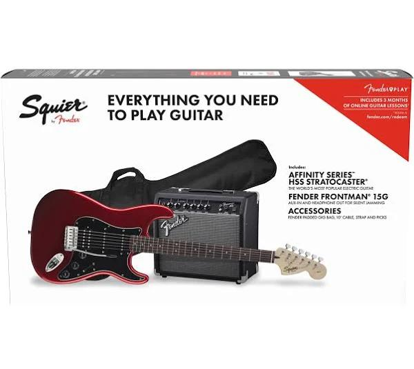 Squier Affinity Stratocaster HSS-Paket, Candy Apple Red