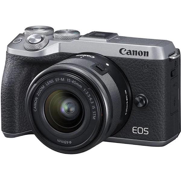 Canon EOS M6 Mark II Mirrorless Digital Camera with EF-M 15-45mm...