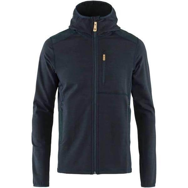 Fjallraven Keb Fleece Hoodie Blue, Mens G-1000 Fleece Jacket (Size XL - Color Dark Navy)