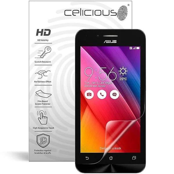 Celicious levande osynlig glansigt HD skärmskydd Film kompatibel med Asus Zenfone gå T500 [Pack 2] Asus Zenfone Go T500