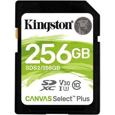 Kingston Technology Canvas Select Plus memory card 256 GB SDXC Class