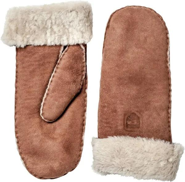 Hestra Sheepskin Mittens Dam brown