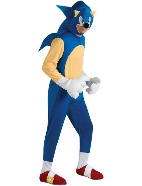 Sonic the Hedgehog Deluxe Costume   Adult   Mens   Blue   XL   Rubies Costume Co. Inc