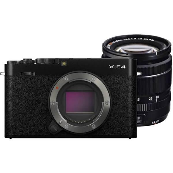 Fujifilm X-E4 Zwart + XF 18-55mm