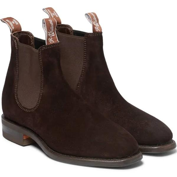 R.M.Williams - Men - Comfort Craftsman Suede Chelsea Boots brown - Soft Leather 70%, Various Materials 20%, Elastic 10%