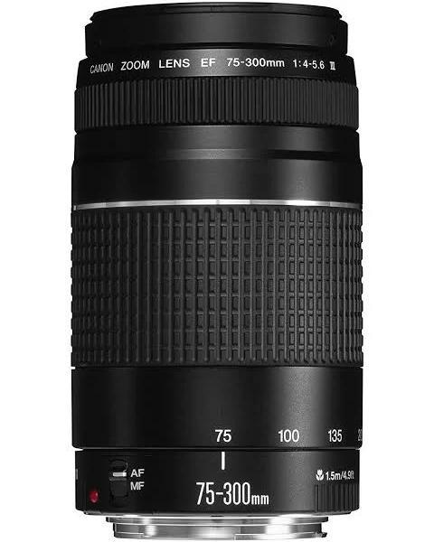 Canon EF 75-300mm f/4.0-5.6 III SLR Telephoto lens Black - Canon EF 75-300mm f/4.0-5.6 III, SLR, 13/9, Telephoto lens, 1.5 m, Canon EF, 75-300 mm