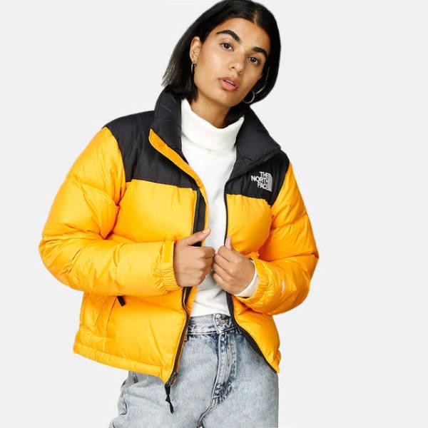 The North Face Retro Nuptse Jacket Dunjacka yellow, gender.adult.female, Storlek: XXL, Gul