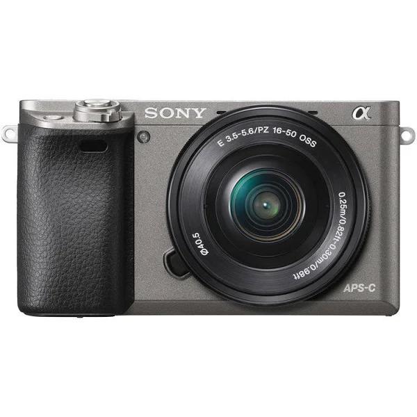 Sony - Alpha A6000 Mirrorless Camera With E Pz 16-50Mm F3.5-5.6 Oss Lens - Graphite Gray