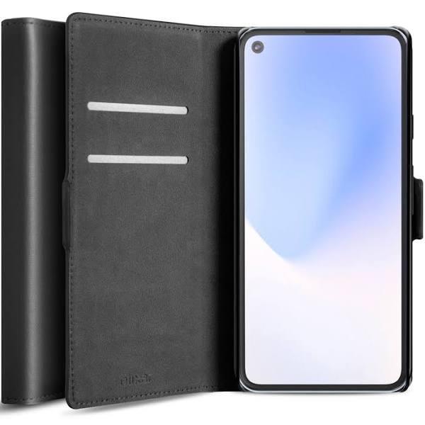 Olixar Genuine Leather Google Pixel 4a 5G Wallet Stand Case - Black