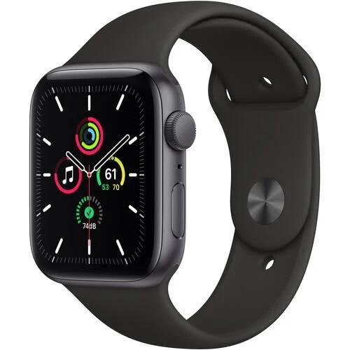 Apple Watch SE 44mm Space Gray Aluminum Case with Sport Band - Black