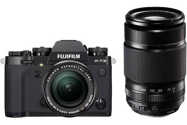 Fujifilm X-T3 Svart + XF18-55mm + XF55-200mm
