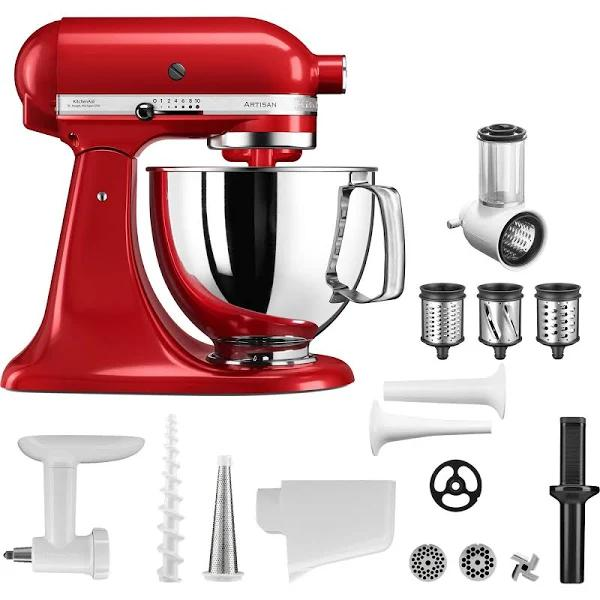 KitchenAid Artisan Köksmaskin (röd) + tillbehörspaket