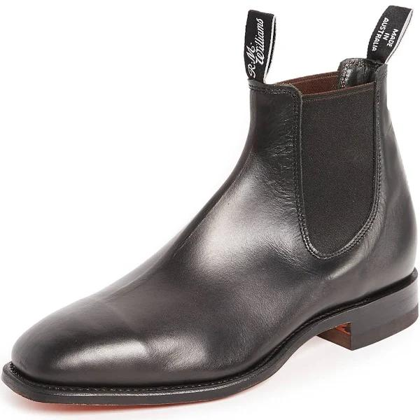 R.M. Williams Classic RM Leather Chelsea Boots Black 6