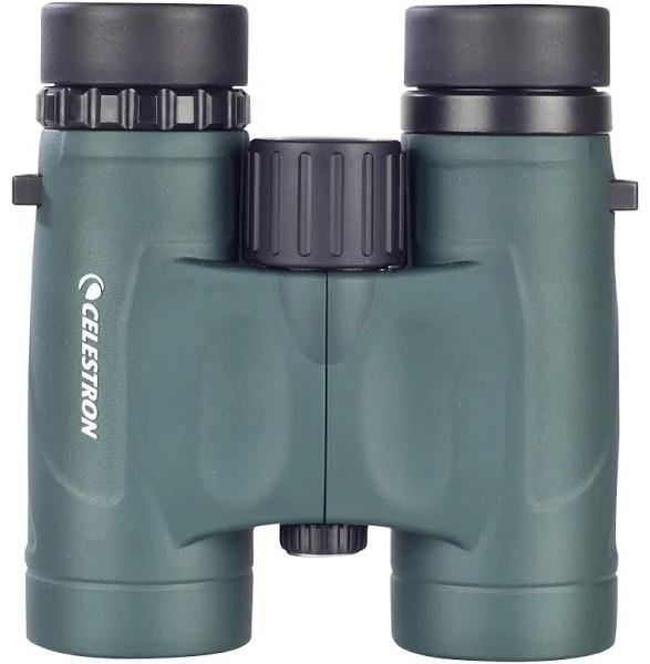 Celestron - Nature Dx 10 X 32 Compact Waterproof Binoculars - Military Green/Black