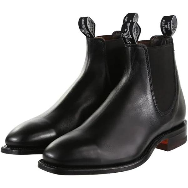 R.M. Williams Classic Craftsman Boots - Yearling leather, classic leather sole - H (Wide) Fit