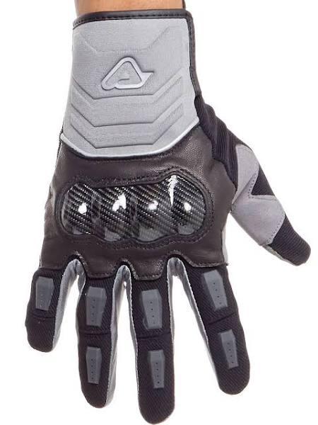 Acerbis Black-Grey 2018 Carbon G 3.0 Motorcycle Gloves L